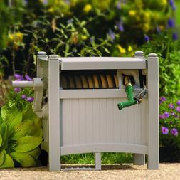 Suncast 100-Foot Capacity Garden Hose Reel Hideaway with Gui