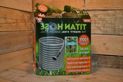 Titan 100 Foot Garden Hose Metal Water Hose, New in Open Box