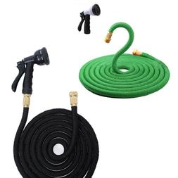 100FT Expandable Flexible Water Hose Pipe Hose Watering Home