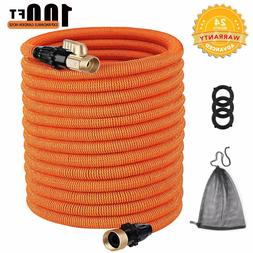 TACKLIFE 100ft Expandable Garden Hose with Double Latex Core