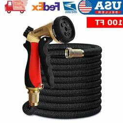 50FT Garden Hose Double Latex Core 3/4 Solid Brass Connector