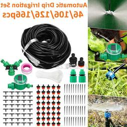 131FT Automatic Irrigation System Hose Drip Sprinklers Garde