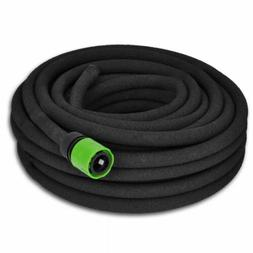 "164FT Rubber Soaker Hose 1/2"" Connector Garden Patio Lawn Pl"