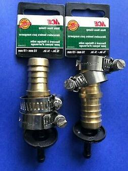 2 ACE  Metal Barb Garden Hose Repair Menders  Twin Stainless