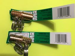 2 GILMOUR  Metal Barb Garden Hose Repair Menders  Twin Stain