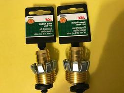 "2 ACE 7308059 Heavy Duty 5/8"" Brass Garden Hose Repair Clinc"