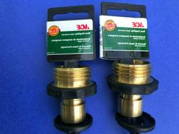 2 ACE Brass Quick-Connect Male Fitting, With Garden Hose Mal