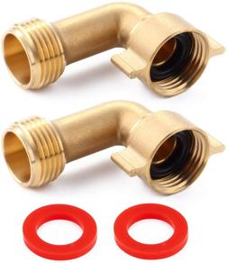 Litorange (2 Pack Industrial Garden Hose Elbow Connector 90