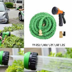Expandable Flexible Garden Water Hose Pipe w/ Spray Nozzle G