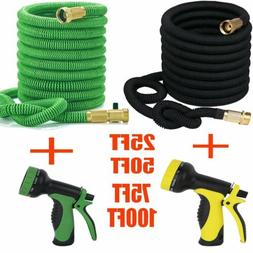 25Ft - 100Ft Expandable High Pressure Garden Hose with 3/4""