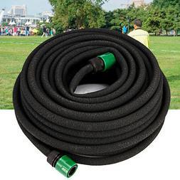 25m 1/2'' Rubber Soaker Hose Garden Patio Lawn Plant Waterin