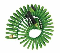 Orbit 2 Pack 50 Foot Coiled Garden Hose with 6 Pattern Spray