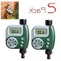 2Pack Single Outlet Programmable Hose Faucet Timer Garden Wa