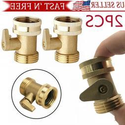 2pcs 3/4 Inch Heavy Duty Brass Garden Nozzle Solid Hose Conn