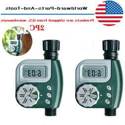 2pcs Outdoor Garden Hose Intelligence Digital Irrigation Con
