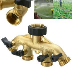 3/4'' Brass 4 Way Garden Water Tap Valve Splitter Hose Pipe