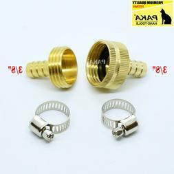 "3/8"" Garden Brass Hose Mender End Repair Kit Hose Connector"