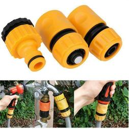 3Pcs Garden Water Hose Pipe Tap Connector Connection Fitting