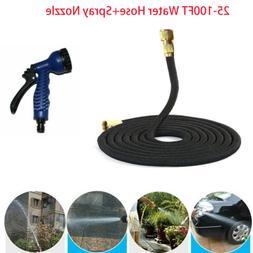 3X Durable Flexible Garden Water Hose Expandable +Spray Nozz
