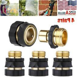 4 Pair 3/4' Garden Hose Quick Connect Hose Fit Brass Hose Ta