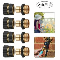 4 Pairs Universal Garden Hose Quick Connect Set Pipe Hose Ta