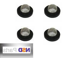 4 PCS GARDEN HOSE WASHERS W/ FILTER SCREEN Metal Nozzle Spri