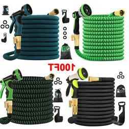 4X Stronger Heavy Duty Expandable Garden Hose Flexible 4-Lay