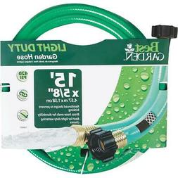 Best Garden 5/8 In. Dia. x 15 Ft. L. Leader Hose with Male &