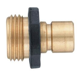 5 Pack - Orbit Brass Male Garden Hose Quick Connect Fitting