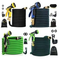 50/75/100FT Expandable Garden Hose Flexible Water Hose W/ So