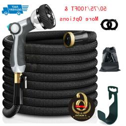 50/75/100FT Garden Hose Expandable Lightweight Heavy Duty Fl