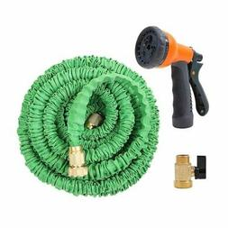 Ohuhu 100 Feet Expandable Garden Hose with Brass Connector a