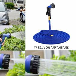 50FT Expandable Garden Hose Extra Strength Fabric Double Lat