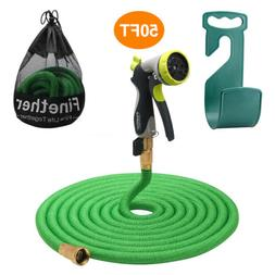 50Ft Flexible COMMERCIAL Garden Water Hose Watering Pipe Bra