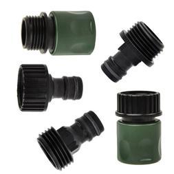 5Pcs Garden Hose Quick Connect Set Kit Plastic Hose Tap Adap