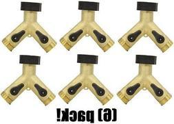 """ea Fiskars / Gilmour 423GAAP Brass """"Y"""" 2 Way Garden Hose Sh"""