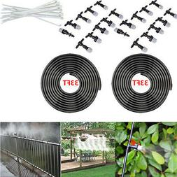 66 FT Water Hose W/ 20 Nozzles for Outdoor Patio Pool Garden