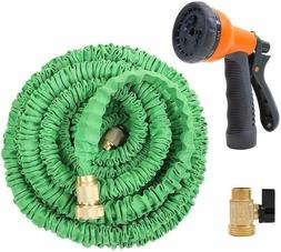 Ohuhu 75 Feet Expandable Garden Hose with Brass Connector an