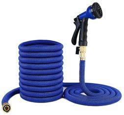 75 FT Expandable Flexible Garden Water Hose Brass Retractabl