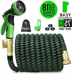 75ft Expandable Garden Hose, Expanding Water Hose With 3/4 I