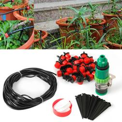 80 Feet DIY Micro Drip Irrigation System Plant Self Watering