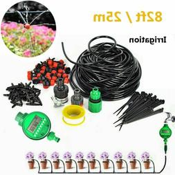 82 Feet DIY Micro Drip Irrigation System Plant Self Watering