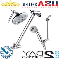 """Adjustable Shower Arm 11"""" Bathroom Wall Mount Pipe Extension"""