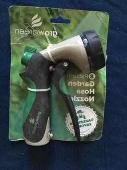 GrowGreen Best Recommended Garden Hose Nozzle HeavyDuty 8-Wa