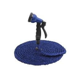 Blue 50 Feet Expandable Garden Hose With Spray Nozzle And Ho