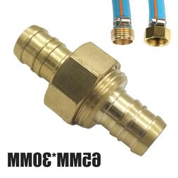 "Brass 5/8"" Garden Hose Mender End Repair Male Female Connect"