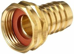 Anderson Metals Brass Garden Hose Swivel Fitting, Connector,