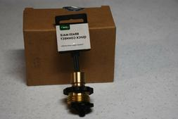Orbit Brass Male Garden Hose Quick Connect Fitting for fast