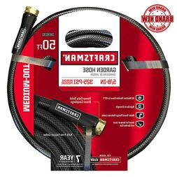 Craftsman Black Garden Hose Medium Duty 5/8 Inch 50 Ft w/ Wa
