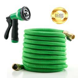 Deluxe 25 FT Water Hose Spray Nozzle Expandable Flexible Gar